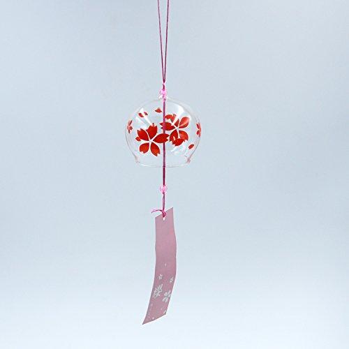 Viento Vidrio Campana Campana Ornamento Colgante Patron Sakura Decorac