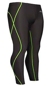 Emfraa Mens Womens Skin Tights Compression Base Layer Leggings Pants Black S