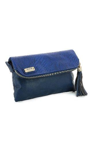 PYTHON goldfarbenen Tasche Case Blau - Marineblau