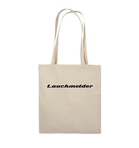 Comedy Bags - Lauchmelder - Jutebeutel - lange Henkel - 38x42cm - Farbe: Schwarz / Weiss Natural / Schwarz