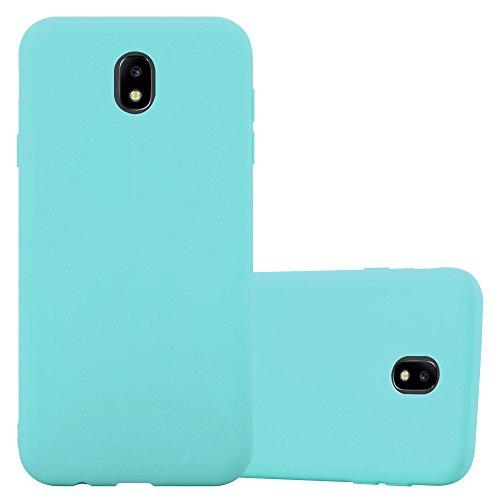 Preisvergleich Produktbild Cadorabo Hülle für Samsung Galaxy J3 2017 (7) - Hülle in Candy BLAU - Handyhülle aus TPU Silikon im Candy Design - Silikonhülle Schutzhülle Ultra Slim Soft Back Cover Case Bumper