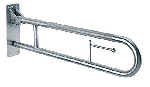 Edelstahl AISI 304liegend hochklappen Haltegriff gebogen von 90Grad mit gerändelten Griff Oberfläche für Home Sicherheit
