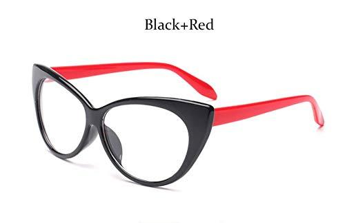 MOJINGYAN Sonnenbrillen Mode Brillen Cat Eye Optische Gläser Frauen Transparente Brillenmarke Designer Vintage Clear Lens Frame, G