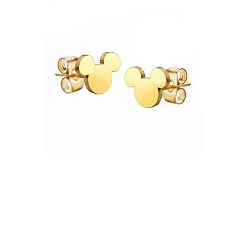 Pendientes Puces Mickey chapado en oro 750/1000Disney