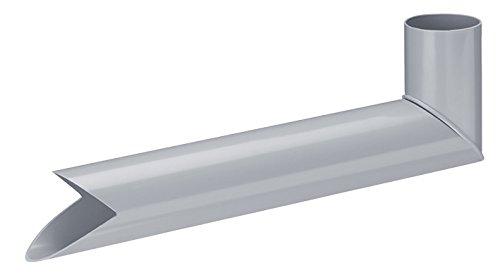 INEFA Wasserspeier DN 50, grau, Kunststoff, Regenrinne, Dachrinne