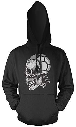 Uglyshirt89 Sport Skull Handball Männer und Herren Kapuzenpullover   Sport Totenkopf (XXL)
