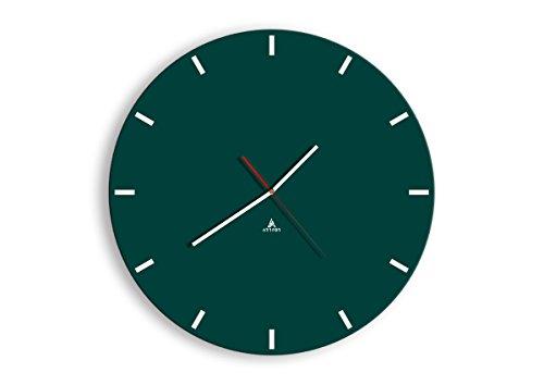Horloge Murale - Ronde - Horloge en Verre - Pendule murales - 50x50cm - 3266 - Mécanisme d'écoulement - Silencieux - prete a Suspendre - Moderne - Décoration - Pret a accrocher - C3AR50x50-3266