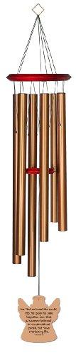 chimesofyourlife john316-angel-35-bronze John 3: 16Angel Memorial Windspiel, 89cm, bronze (Gedenkstätten Perfekte)