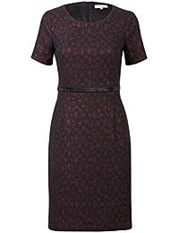 bd810a8c960 Promiss Damen Kleid Jacquard-Muster Jacquard-Muster Knielang Kurzarm  Apparel Dress Dimba