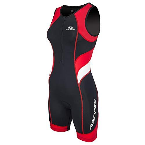 Aropec Triathlon Einteiler Lion Damen - Trisuit Women, Größe:M, Farbe:schwarz/rot