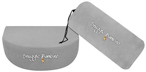 Snuggle Bambino - Pregnancy Pillow Wedge for Maternity - Memory Foam Maternity Pillows – Help Discomfort Pregnancy and Help Support Back, Belly, Body, Knees & Sleep (Gray)