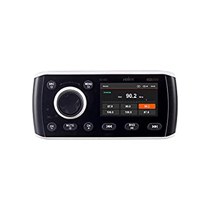 Marine-Stereo-Audio-Video-Player-DABFMAM-mit-Bluetooth-Streaming-fr-Yacht-Boot-UTV-ATV-Powersport-Spa