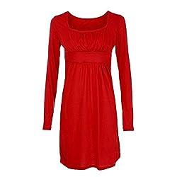 SamMoSon Dress for Women Western,Womens Dresses,Womens Mini Dress Long Sleeve Fashion Women Mini Collar Dress Neck Tunic