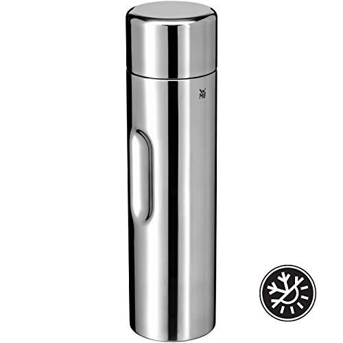 WMF Motion Isolierkanne, 1,0 l, Cromargan Edelstahl, für Tee oder Kaffee, Thermosflasche mit Trinkbecher, hält 24h kalt und 12h warm, Edelstahl