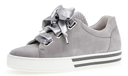 Gabor 26.505 Damen Sneaker,Skater Sneaker, Frauen,Sportschuh,Low-Top,Comfort-Mehrweite,Optifit- Wechselfußbett,Light Grey,6 UK -