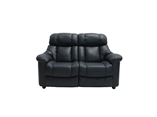PKLine 2-Sitzer Sofa MERIKO in schwarz Couchgarnitur Wohnlandschaft Ledercouch