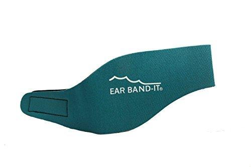 Swim Stop Ear Band-it - Bandas protectoras de oídos para natación aguamarina Azul verdoso Talla:mediano