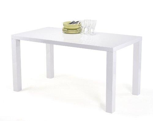 Esstisch Esszimmertisch Wohnzimmertisch Loungetisch Tisch Hochglanz weiß 120 x 80 cm Wohnzimmer Esszimmer Küche Büromöbel Büro Gastro Gastronomie