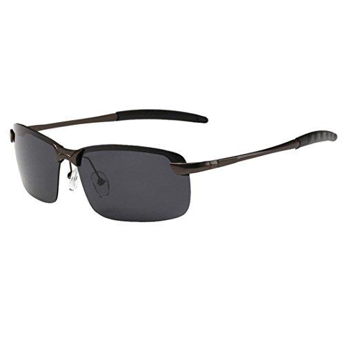 Unisex Sportbrille, ZARU Frauen Männer Fahrer Brille Nachtsichtbrille Blendschutz Sonnenbrille Vintage Pilotenbrille Sommer Sonnenbrillen Aviator Brille (One Size, D)