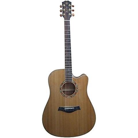 HONSING® 41 pulgadas guitarra acústica / chipping barril de madera de nogal lado pino superficie inferior HS-4106CS-NT (Color madera)