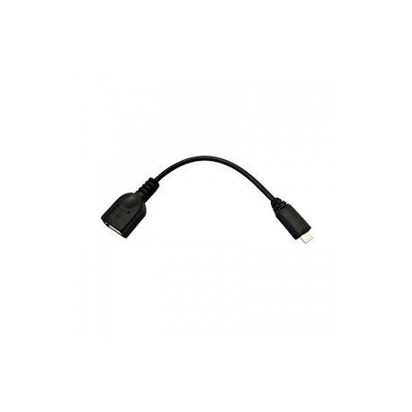 Nano Cable 10.01.3500 - Cable USB (Micro B/M-A/H, 0.15 m, USB OTG), color negro width=