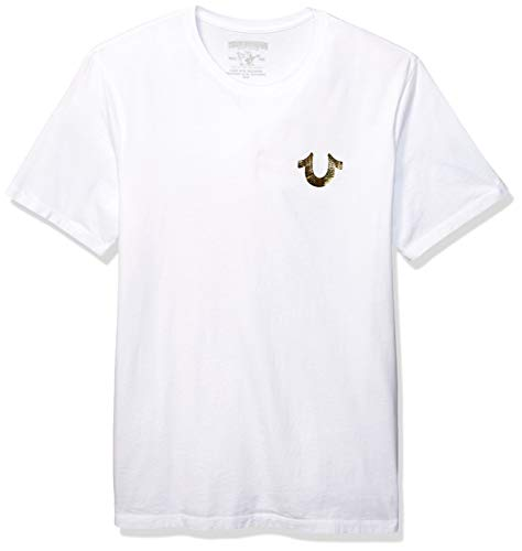 True Religion Herren Big Buddha Tee T-Shirt, weiß, XX-Large