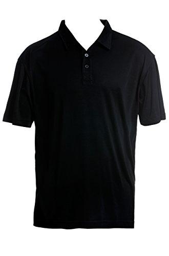 SUPERIOR NATURALS, Poloshirt, Kurzarm, 100% Seide, Interlock, Schwarz, XXL (Interlock-golf-shirt)