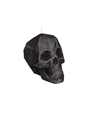 Horror-Shop vela negra calavera de cristal