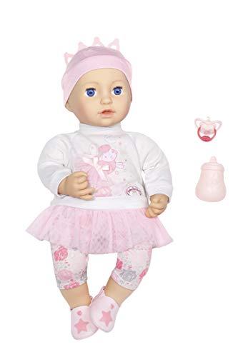 Zapf Creation 702079 Baby Annabell Sweet Dreams Mia 43cm, rosa, weiß - Sweet Dreams Auge