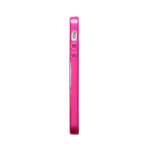 Coque iPhone SE, Terrapin Étui Coque en Gel TPU pour iPhone SE Case - Clear TPU - rosa
