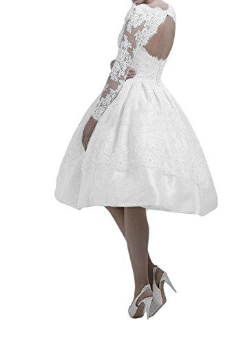 TOSKANA BRAUT Damen A-Linie KnieKnielang Abendkleider Kurz Spitze Braut Cocktail Party Ball Hochzeitskleider Gelb