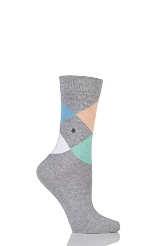 Burlington Damen Socken Queen, Grau 36-41