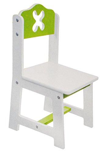 alles-meine.de GmbH 1 Stück _ Stuhl für Kinder - aus sehr stabilen Holz -  weiß / grün  - Kinderstuhl - Beistellstuhl - Kindermöbel für Jungen & Mädchen - Kinderzimmer für circ..
