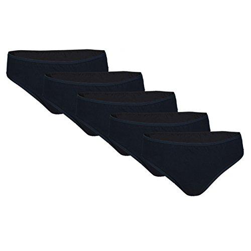 ip Baumwolle 5er Pack, Farbe: Schwarz, Größe: M (Frauen Unterwäsche Bikini-pack)