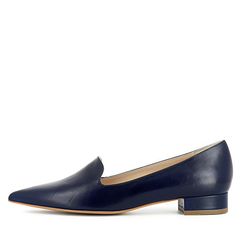 FRANCA Damen Slipper Glattleder Blau