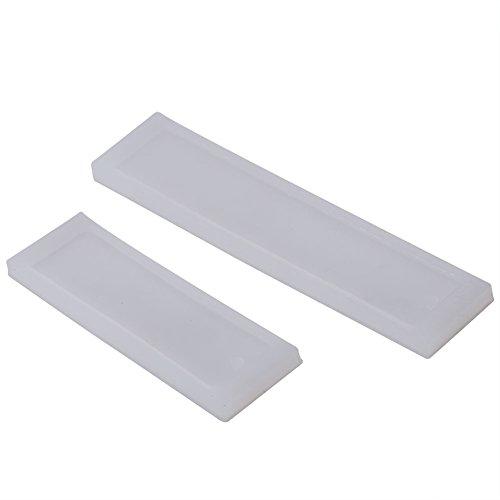 Akozon 2pz Fustelle per Scrapbooking Segnalibro DIY Stampo in Silicone Rettangolo che fa Strumento Mestiere Gioielli Resina Epossidica