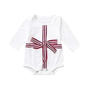 Proumy ◕ˇ∀ˇ◕Baby Kleidung Set Neugeborene Jungen Mädchen Lange Ärmel Bowknot Overall Strampler Kinderkleidung Tops Romper Outfits Spielanzug Set