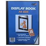 Tiger 20 A4 Pocket Presentation Display Book - Black