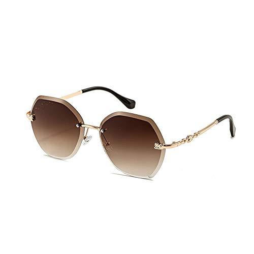 Pig pecs Trendige Sonnenbrille für Frauen - Gläser - UV400 Schutz -Metallrahmen - Ideal zum Autofahren Städtetouren - Marine Lens,B