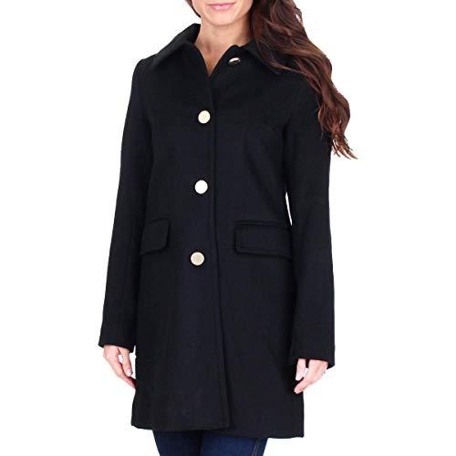 T Tahari Women's Classic Single Breasted Wool Coat