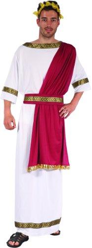 Griechischer Kaiser Herrenkostüm Weiss-rot-goldfarben Einheitsgröße (42) (Antike Griechische Kostüm Männer)