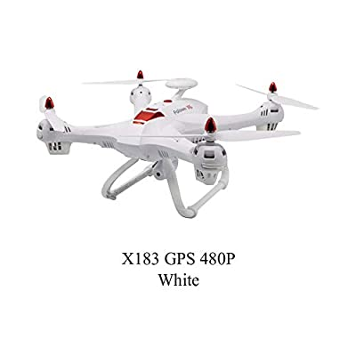 Never-hu X183s Drone, 5G Large Four-Axis Aircraft With HD Camera FPV RC Drone GPS Positioning Aerial Photographing Altitude Hold Headless 360 Flip Professional Drone
