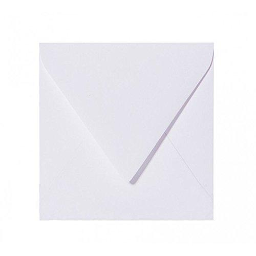 25 Quadratische Briefumschläge 10,0 x 10,0 cm 100 x 100 mm Weiß Verschluss: feuchtklebend Grammatur: 120 g/m² (Briefumschläge 10 100)