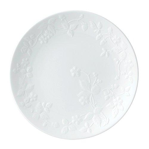 Wedgwood 40029578 Salatteller Knochenporzellan Wild Strawberry White Wedgwood White Dinner Plate