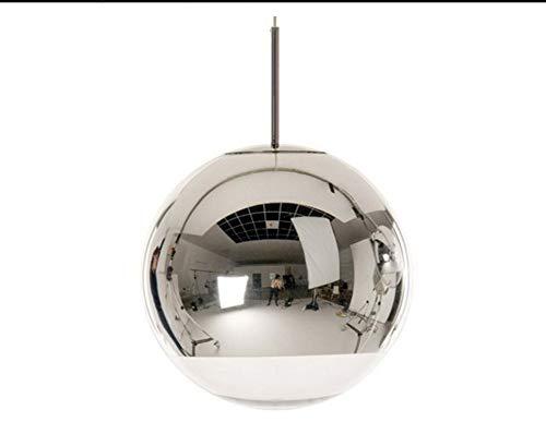 Retro Licht15.7'Chrome Mirror Ball Lámpara colgante Globo colgante de luz