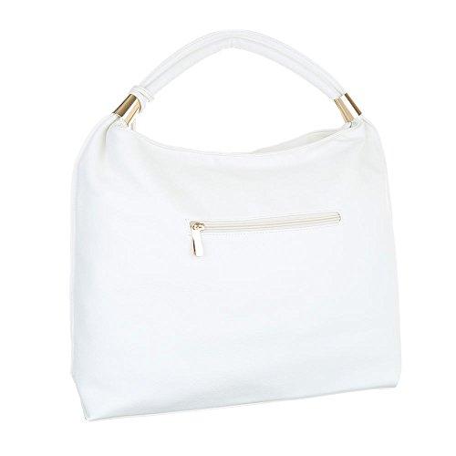 Damen Handtasche Tragetasche Shopper Shopper Beige Elfenbein Schwarz Blau Grau Rot Weiß Weiß