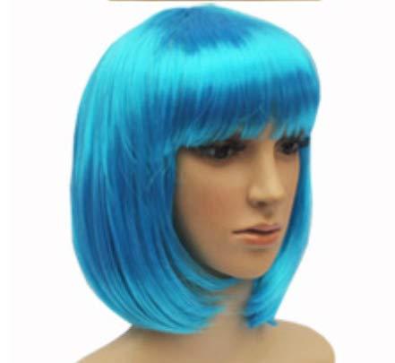 Tonpot Beauty Wig Damen Perücke Kurze Innenlocken mit Air Bangs Frisieren Fasching Zubehör