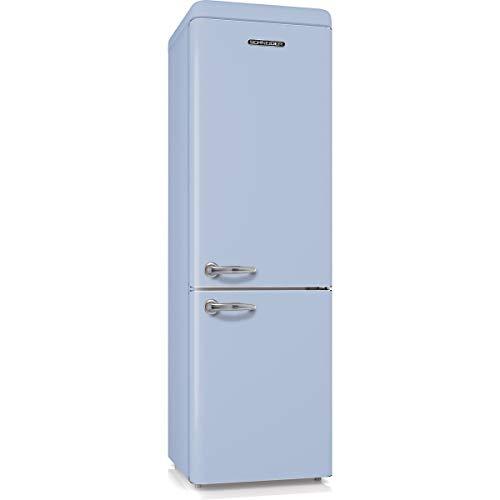 SCHNEIDER SCB250VBL Réfrigérateur combiné inversé Vintage 250 litres (178 litres + 72 litres) -...