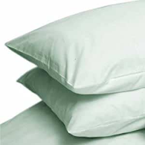 Pair Of Percale Combed Cotton Pillow Cases Aqua