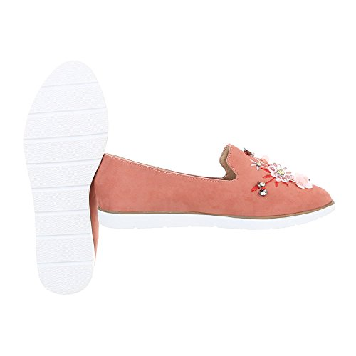 Slipper Damenschuhe Slipper Slipper Ital-Design Halbschuhe Pink